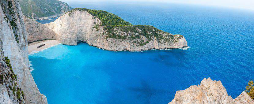 Zakynthos, Ship, Wreck, Panorama, Greek Island, Greece