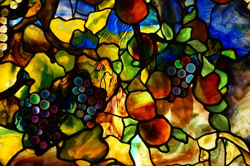 Tiffany, Stained Glass, Autumn, Window, Design, Pattern