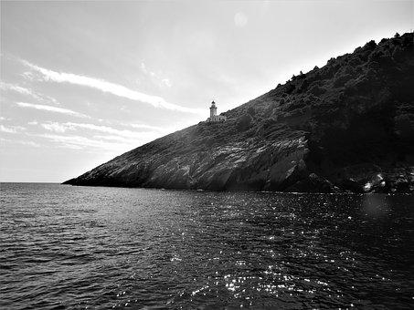 Greece, Skopoulos, Black And White, Summer Vacation