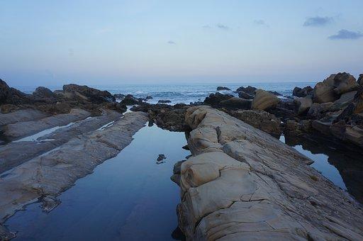 Taitung, Coast, Taiwan, The Sea, Rock, Ono Willow