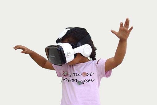Vr, Virtual Reality, Child, Device, Technology, Headset