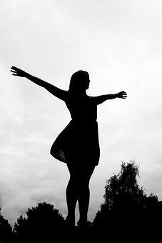 Woman, Freedom, Health, Welfare, Arm, Arms, Open, Joy