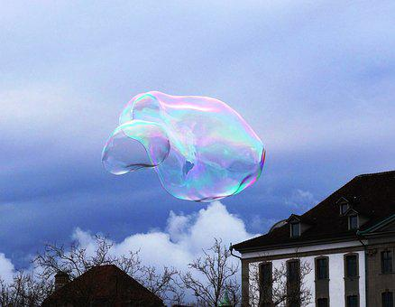 Soap Bubble, Sky, Cloud, Weightless, Blow, Float, Airy