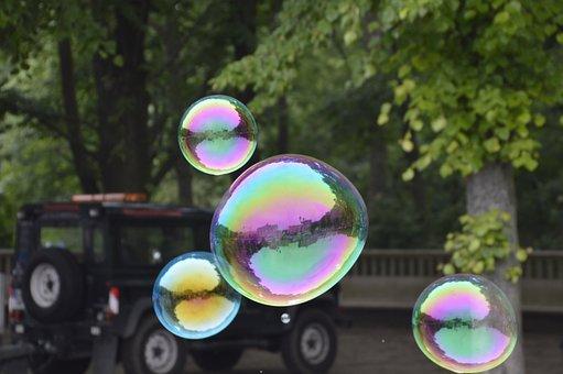 Soap Bubble, Berlin, Brandenburg Gate, Auto, Tree