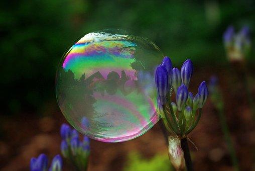 Soap Bubble, Bubble, Ball, Float, Colorful