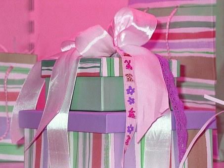 Gift, Packed, Surprise, Wrapping Paper, Made, Give
