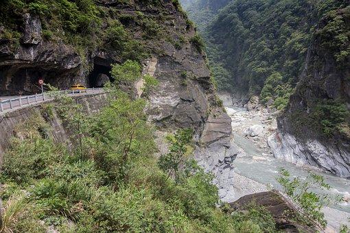 Taiwan, Taroko, Mountains, River, Valley, Gorge