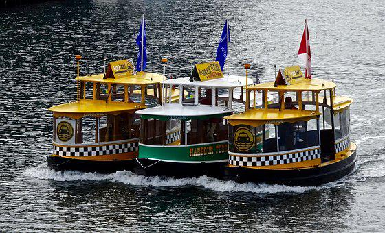 Water Taxi, Boats, Transportation, Taxi, Water, Group