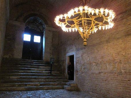 Igreja, Luz, Luminária, Turkey, Istanbul, Hagia Sophia