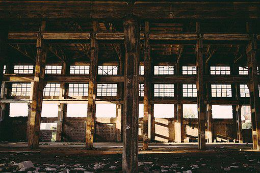 Industrial, Old Factory, Sunshine, Decadence, Fading