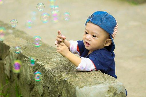 Play, Park, Kid, Ku Shin, Child, The Park, Soap Bubbles