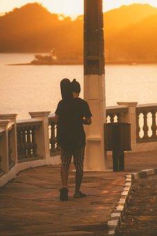 Sunset, Light, Environment, Tranquility