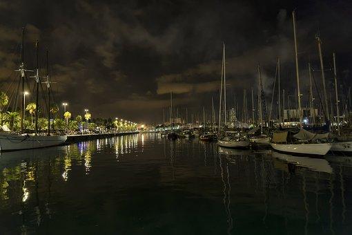 Barcelona, Night Shots, Night, Long Exposure, Lights