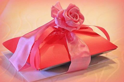 Gift, Gift Packaging, Loop, Rose, Packaging, Give