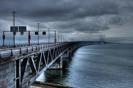 The öresund Bridge, Bro, Malmö, Swedish, Sweden