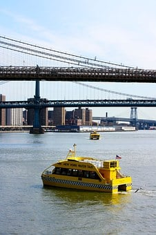 Water Taxi, Nyc, Manhattan, Big Apple, New York City