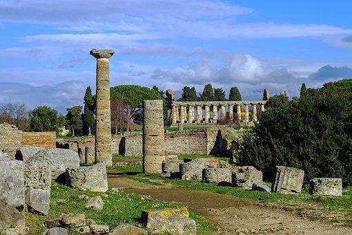 Paestum, Salerno, Italy, Via Sacra, Magna Grecia