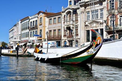 Aveiro, Portugal, Portuguese Venice, Boats, Rio, Venice