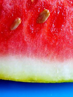 Watermelon, Red, Pulp, Cores, Fruit, Fresh, Healthy