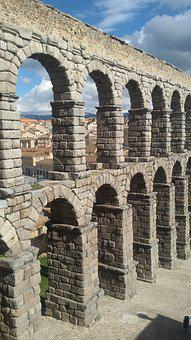 Segovia, Aqueduct, Spain, Building, Roman