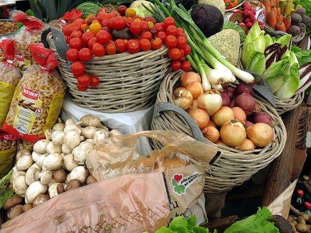 Vegetables, Tomatoes, Leek, Salad, Onions, Healthy, Eat