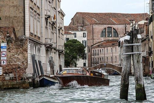Water Taxi, Venice, Boot, Transport, Channel, Shipping