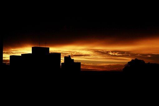 Sunset, Horizon, Sol, Natural, Eventide