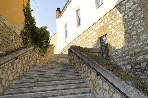Tapolca, Mill Pond, Upper Lake, Stairs