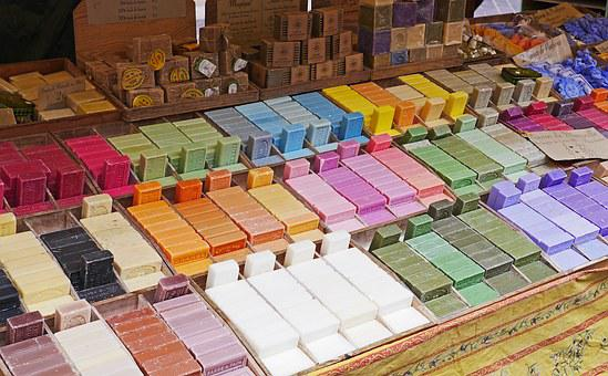 Flower Market, Nice, Soap, Stand, Colorful