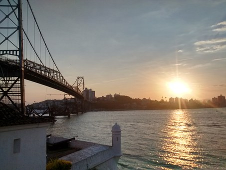 Hercílio Luz Bridge, Strong Samir, Sunset