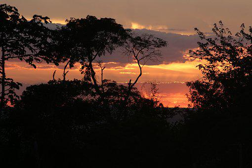 Nature, Ceará, Brazil, By, Sunset, Sol, Tiangua