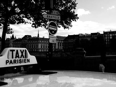 Taxi, Teaches, Paris, Direction, Public Transport