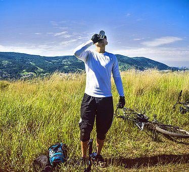 Fitness, Man, Bike, Mountain, Trail, Thirst, Water
