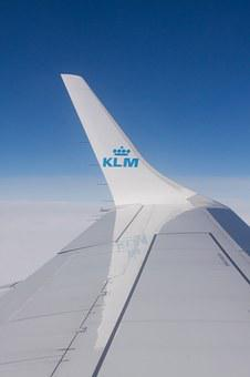 Fly, Klm, Flight, Transport, Airline, Wing, Signet