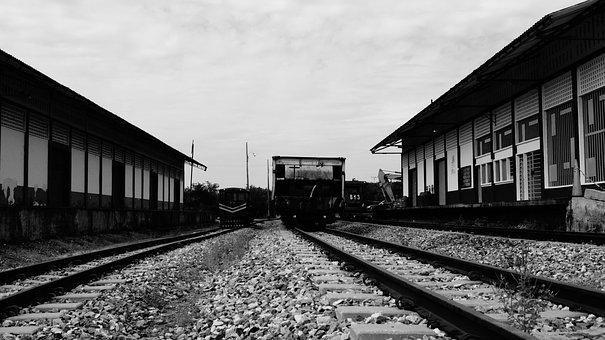 Railroad Track, Aguachica, Iron, Transport, Train, Old