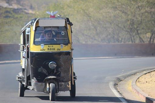Rickshaw, Tuktuk, India, Transportation, Transport