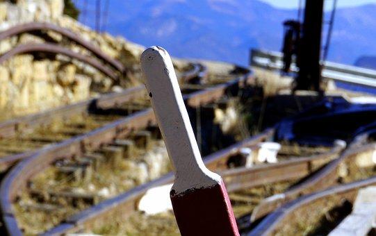 Railway, Rails, Train, Via, Naughty, Miner, Old