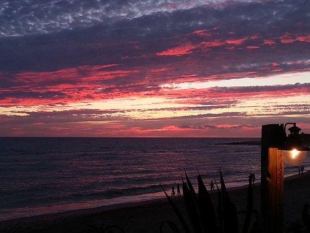 Sunset, Andalusia, Spain, Zahora, Costa De La Luz
