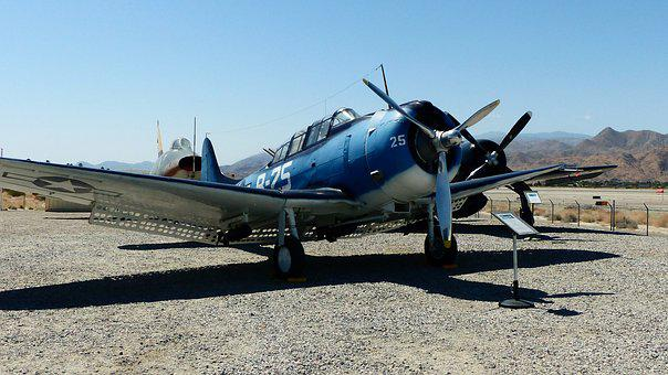 Aircraft, America, Museum, Palm Springs, Blue, Wings