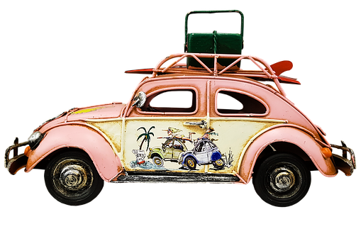 Auto, Beetle, Volkswagen, Herby, Camping, Holiday, Vw