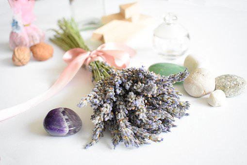 Lavender, Bow, Pink Bow, Summer, Scent, Bouquet, Herb