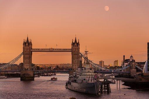 London, Thames, Bridge, Tower, Uk, City, Britain