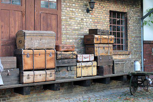 Burg Train Station, Old Suitcase, Collection