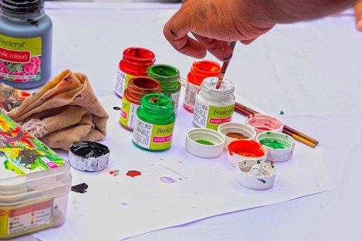 Colors, Black, Paper, Painting, Brush, Art, Artist Hand