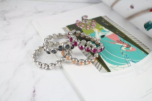 Crystal, Hand Chain, Swarovski, Beauty, Girls, Woman