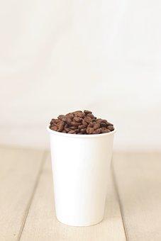 Coffee, Coffee Bean, Bean, Cafe, Cup, Wood, Espresso