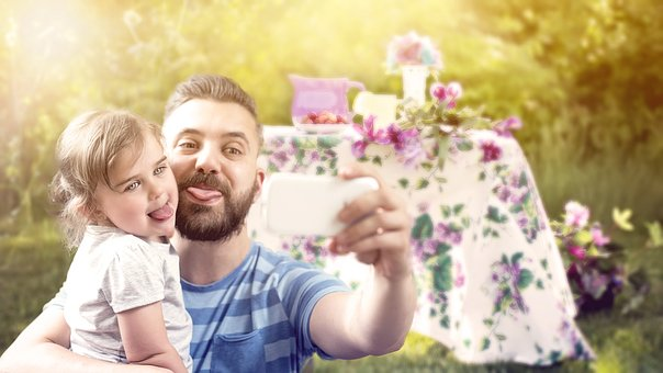 Father And Son, Happiness, Love, Child, Joy, Childhood