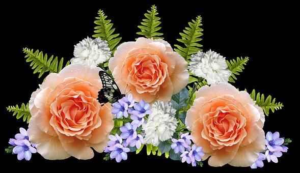 Flowers, Roses, Arrangement, Decoration