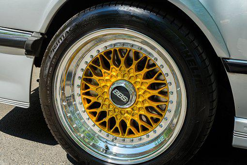 Wheel, Mature, Rim, Gold, Silver, Gloss, Auto, Oldtimer