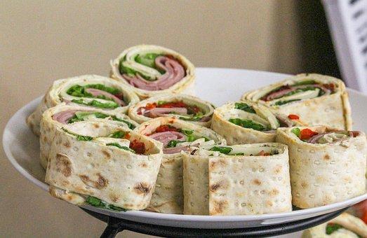 Sandwich, Wrap, Turkey, Mayo